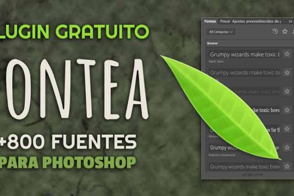 Plugin Photoshop gratuito: Fontea 800 fuentes de Google Fonts
